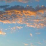 Beautiful sunrise and cumulus clouds Stock Photo
