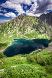 Beautiful sunrise at Czarny Staw Gasienicowy in summer, Tatras. Europe Stock Images