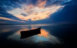 Beautiful sunrise in the Danube Delta, Romania stock photography