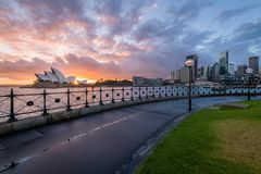 A beautiful sunrise from Dawes Point stock photo