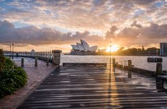 A beautiful sunrise from Dawes Point stock photography