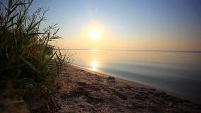 Beautiful sunrise. Dawn at sea. Morning seascape. Beautiful sunrise in the morning. hd. 1920x1080 stock video footage