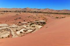 Beautiful sunrise dunes of Namib desert, Africa Royalty Free Stock Photos