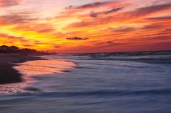A Beautiful Sunrise At Emerald Isle, Southern Outer Banks, North stock photo