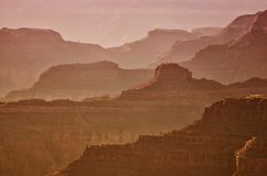 Beautiful Sunrise in Grand Canyon, USA Royalty Free Stock Photos