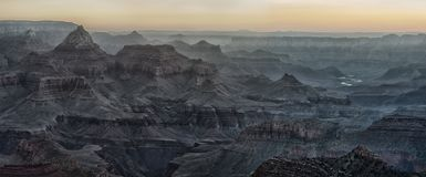 Beautiful Sunrise in Grand Canyon, USA. Royalty Free Stock Photo