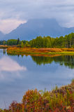 Beautiful Sunrise in Grant Teton National Park Stock Photos