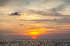 Beautiful sunrise. In the Indian Ocean Royalty Free Stock Photo