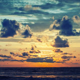 Beautiful sunrise. In the Indian Ocean Royalty Free Stock Photography