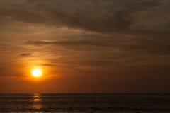 Beautiful sunrise. In the Indian Ocean Stock Photos