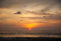 Beautiful sunrise. In the Indian Ocean Stock Image