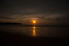 Beautiful sunrise. In the Indian Ocean Stock Photography
