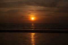 Beautiful sunrise. In the Indian Ocean Stock Photo