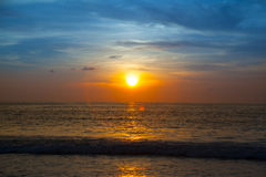 Beautiful sunrise. In the Indian Ocean Royalty Free Stock Photos