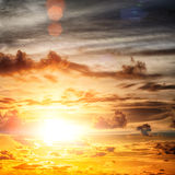 Beautiful sunrise. In the Indian Ocean Stock Images