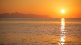Beautiful sunrise on the island of Santorini stock video