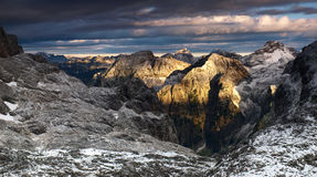 Beautiful sunrise in Julian Alps, Slovenia. Stock Image