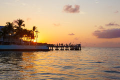 Beautiful sunrise on Key West, Florida, USA Royalty Free Stock Image