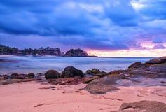 Beautiful sunrise klayar beach, east java, indonesia. Photo background nature royalty free stock photography