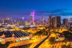 Beautiful sunrise at Kuala Lumpur city centre Stock Photography