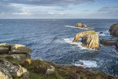 Beautiful sunrise landscape of Land's End in Cornwall England Royalty Free Stock Image