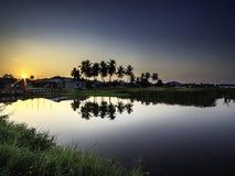 Beautiful sunrise at Langkawi Island royalty free stock images