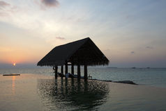 Beautiful sunrise at Maldives Stock Photo