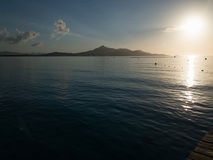 Beautiful sunrise in Mallorca Spanish island, Playa de Muro, Alcudia Bay Stock Photography