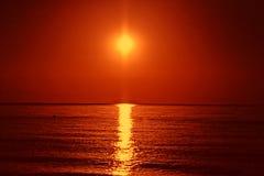 Beautiful Sunrise on Mediterranean Sea Stock Image