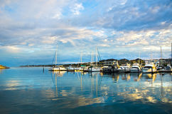 Beautiful Sunrise at Mindarie Marina. Mindarie marina Perth Western Australia Royalty Free Stock Image