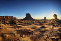Beautiful sunrise at Monument Valley Royalty Free Stock Image