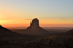 Beautiful sunrise at Monument Valley Royalty Free Stock Photography