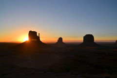Beautiful sunrise at Monument Valley Stock Photography