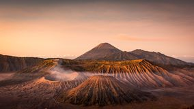 Beautiful sunrise at Mount Bromo Tengger Semeru stock photos