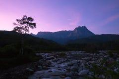 Sunrise Mount Kinabalu royalty free stock photos