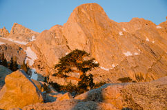 Beautiful sunrise on Mount Whitney Stock Image