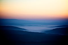 Beautiful sunrise in mountain Royalty Free Stock Image