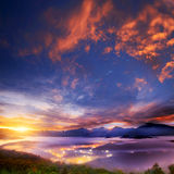 Beautiful sunrise in the mountain Royalty Free Stock Photography