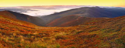 Beautiful sunrise on the mountaines Royalty Free Stock Images
