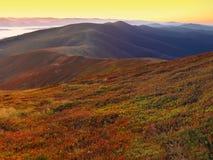 Beautiful sunrise on the mountaines Stock Photos