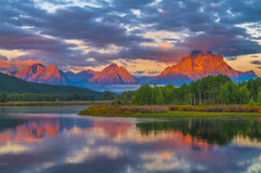 Beautiful Sunrise in the Mountains Royalty Free Stock Photo