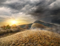 Beautiful sunrise in the mountains Royalty Free Stock Images