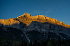 Beautiful sunrise in the mountains. The beautiful Canadian mountains in the sunrise hour. Banff, Alberta, Canada Stock Images