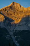 Beautiful sunrise in the mountains. The beautiful Canadian mountains in the sunrise hour. Banff, Alberta, Canada Royalty Free Stock Photography