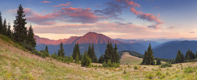 Beautiful mountain panorama Royalty Free Stock Images