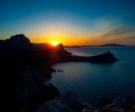 Beautiful sunrise near Novyi Svet, Crimea Royalty Free Stock Image