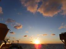 Beautiful sunrise. Ocean sunrise looks so mesmerising Stock Photography