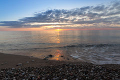 A beautiful sunrise on the ocean. Royalty Free Stock Photos