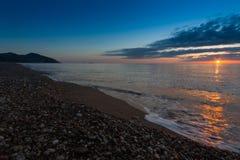 A beautiful sunrise on the ocean. A beautiful sunrise on the ocean in summer Stock Photos