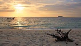 Beautiful sunrise over Andaman sea and sailing boat Stock Image